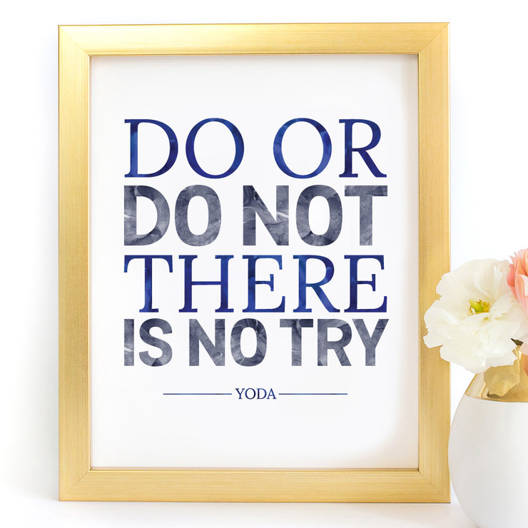 Do or Do not Yoda Star Wars Digital Printable Art Print by Paper Ponies Boutique
