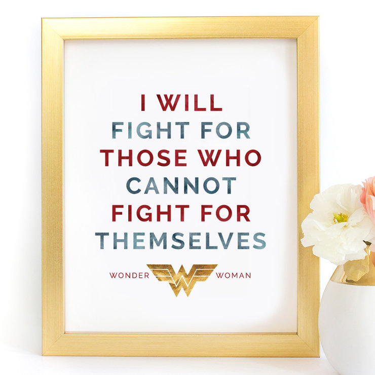 picture regarding Printable Prints referred to as I will beat for those people Speculate Female Justice League Electronic Printable Artwork Print