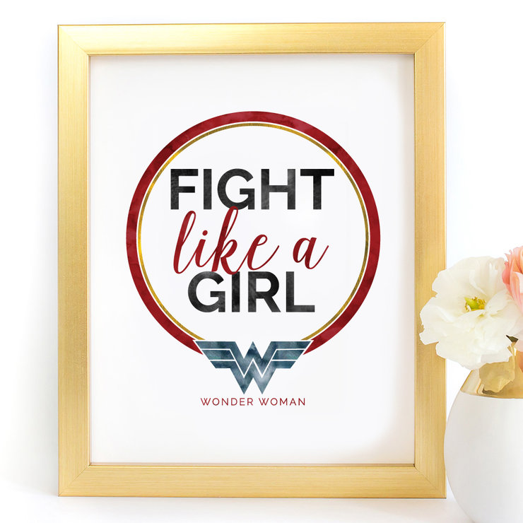 image about Wonder Woman Logo Printable identified as Battle together with a lady Surprise Female Electronic Printable Artwork Print
