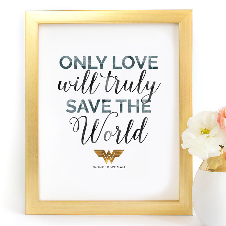 photograph relating to Printable Prints known as Simply just delight in will seriously help save the world-wide Marvel Girl Electronic Printable Artwork Print