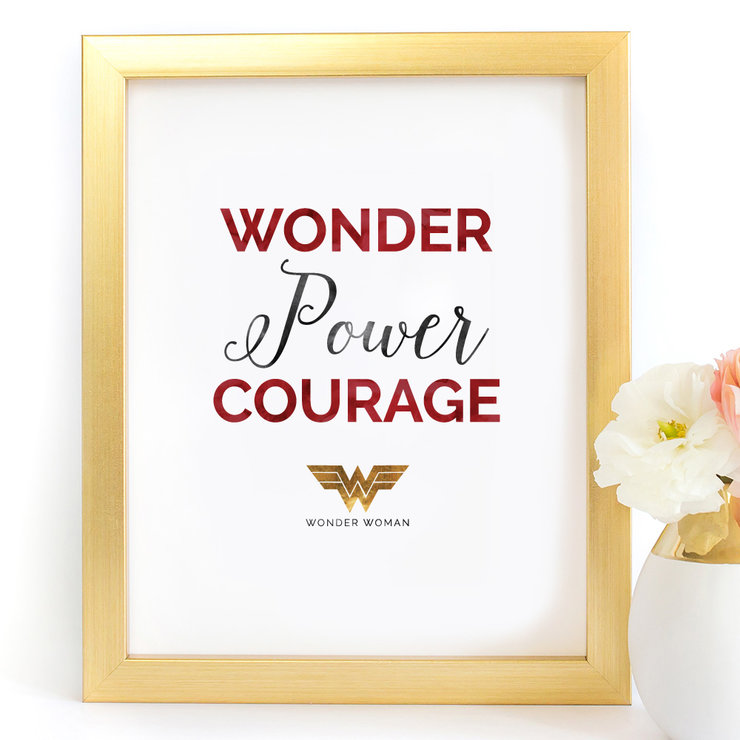 Wonder Power Courage Wonder Woman Digital Printable Art Print by Paper Ponies Boutique