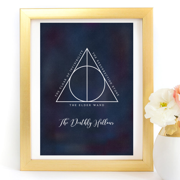 Deathly Hallows Harry Potter Printable Digital Art Print by Paper Ponies Boutique