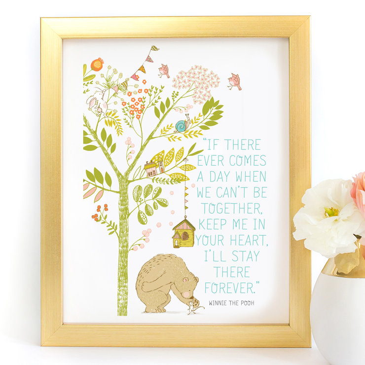Winnie the pooh if there ever comes a day nursery children's Quote Poster Digital Art Print by Paper Ponies Boutique