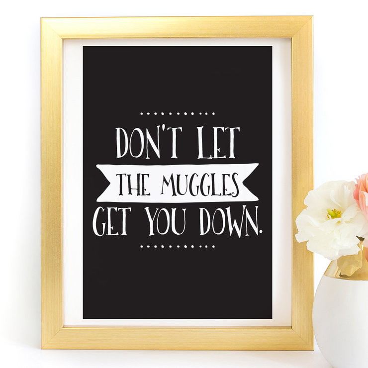 Don't let the muggles get you down Harry Potter Digital Printable Art Print by Paper Ponies Boutique