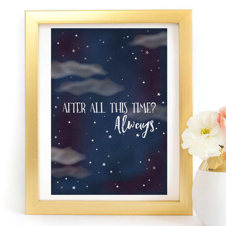 After All This Time Harry Potter Digital Printable Art Print by Paper Ponies Boutique