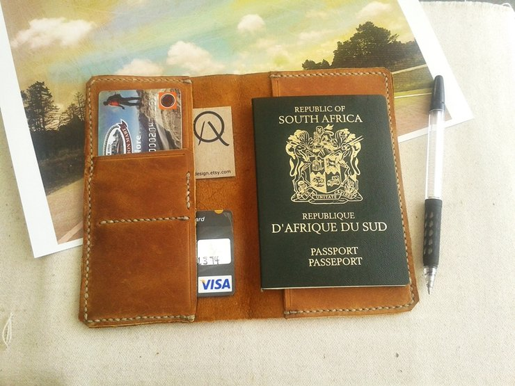 Leather Passport Cover | SOLD
