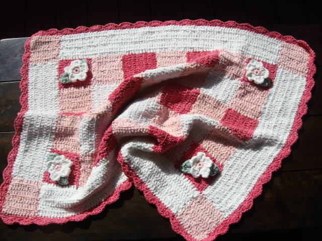 Cotton and bamboo crochet patchwork cot blanket by Buglets by Barbs