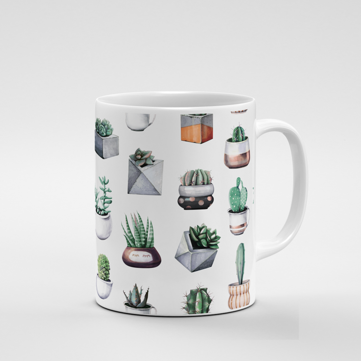 Cacti Party Pattern 10 | Mug by But Why Not