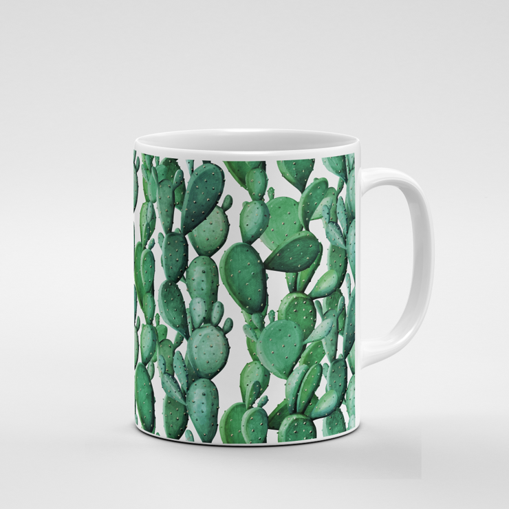 Cacti Party Pattern 12 | Mug by But Why Not