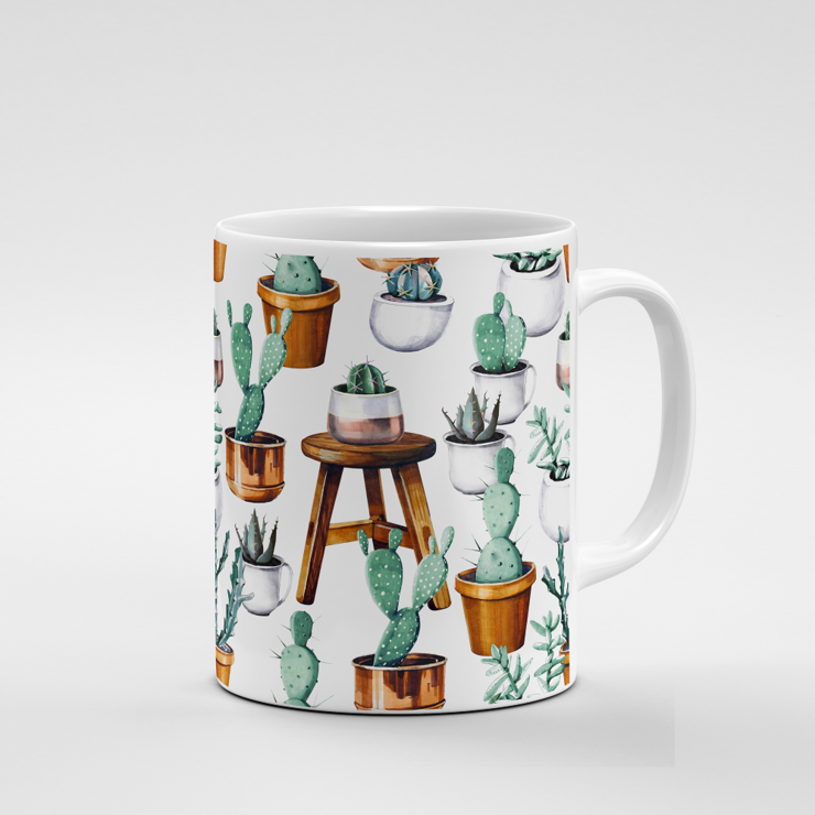 Cacti Party Pattern 15 | Mug by But Why Not
