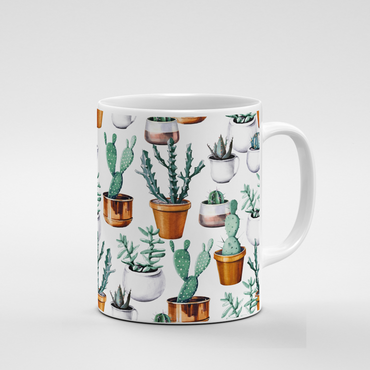 Cacti Party Pattern 16 | Mug by But Why Not