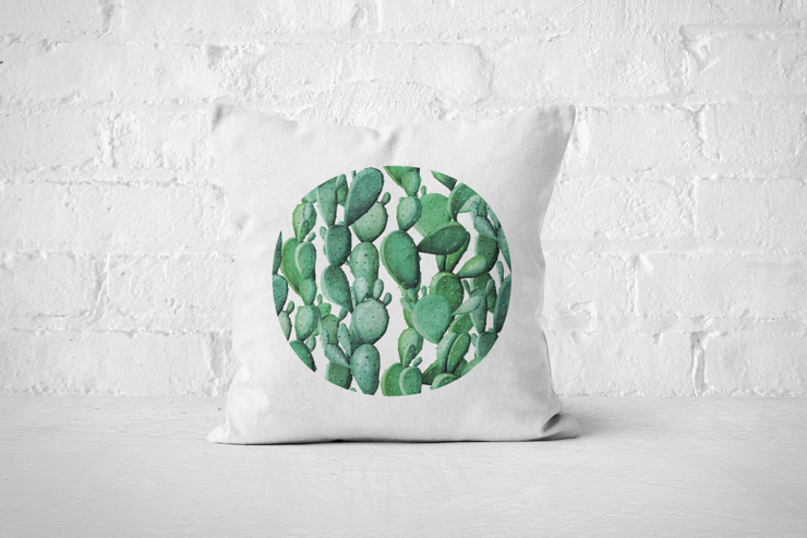 Cacti Party Pattern 12 | Pillow Cover by But Why Not