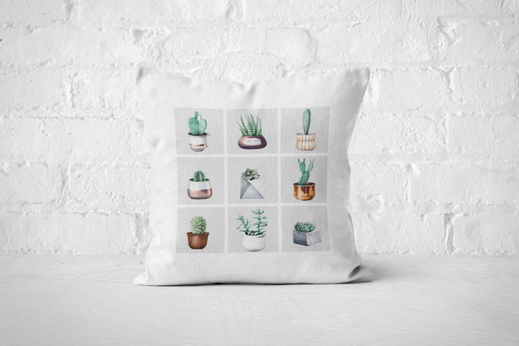 Cacti Party Pattern 2 | Pillow Cover by But Why Not