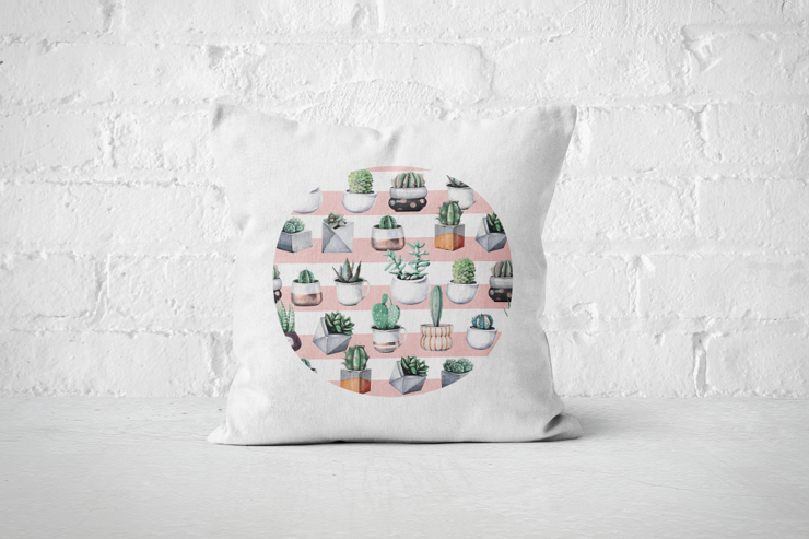 Cacti Party Pattern 3 | Pillow Cover by But Why Not