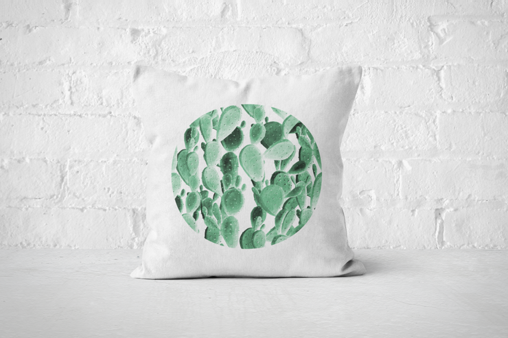 Cacti Party Pattern 6 | Pillow Cover by But Why Not