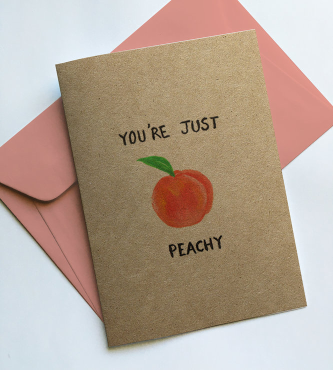 You're Just Peachy Greeting Card by Place to Find