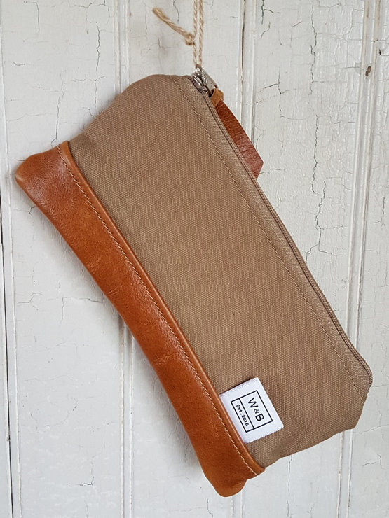 Made to Order Pencil Case - Sand and Tan by Wooding and Becker