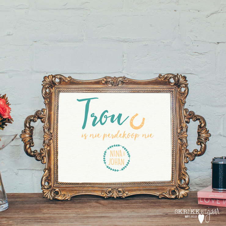 Printable Wedding Sign - Perdekoop by Skrikkeljaar