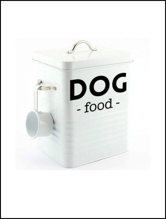 Dog Food Labels 01 – Set of 2 (large) by That Little Decor Company