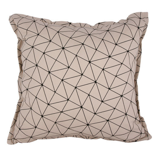 ORIGAMI STONE BLACK SCATTER CUSHION by Baby Couture