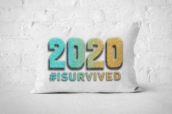 2020 #isurvived - Pillow (Color Option 2)  by But Why Not