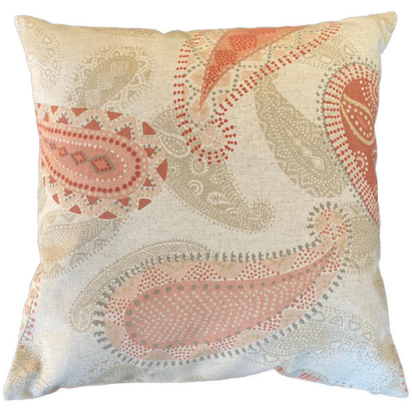 Scatter cushion/pillow cover Paisley 40x40cm (cover only) by Going Dutch In Sa