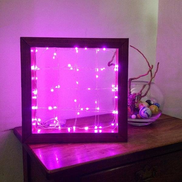 Meranti Framed Pink Lights by Unique Creations