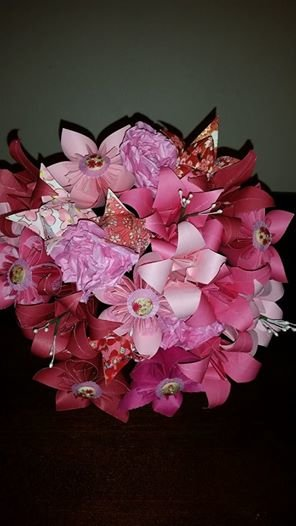 Pink Origami And Bespoke Paper Bouquet Hello Pretty Buy Design