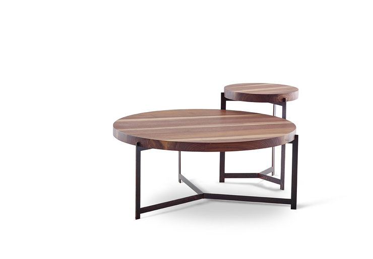 Kiaat Coffee Table and Side Table Combo by Hairpins