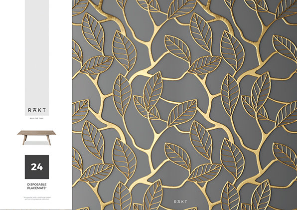 Placemats | LUXE Collection | Gold Leaf Print | PML010 by RAkt