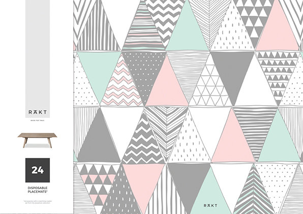 Placemats Patterns Collection Pink Amp Grey Pastel