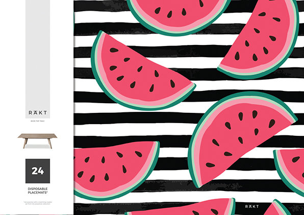Placemats | SUMMER Collection | Watermelons | PMS010 by RAkt