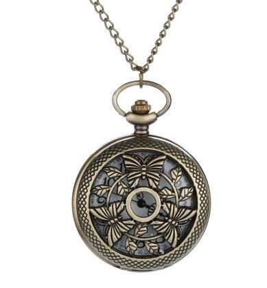 Pocket Watch 3Butterflies by Creations de Splendeur