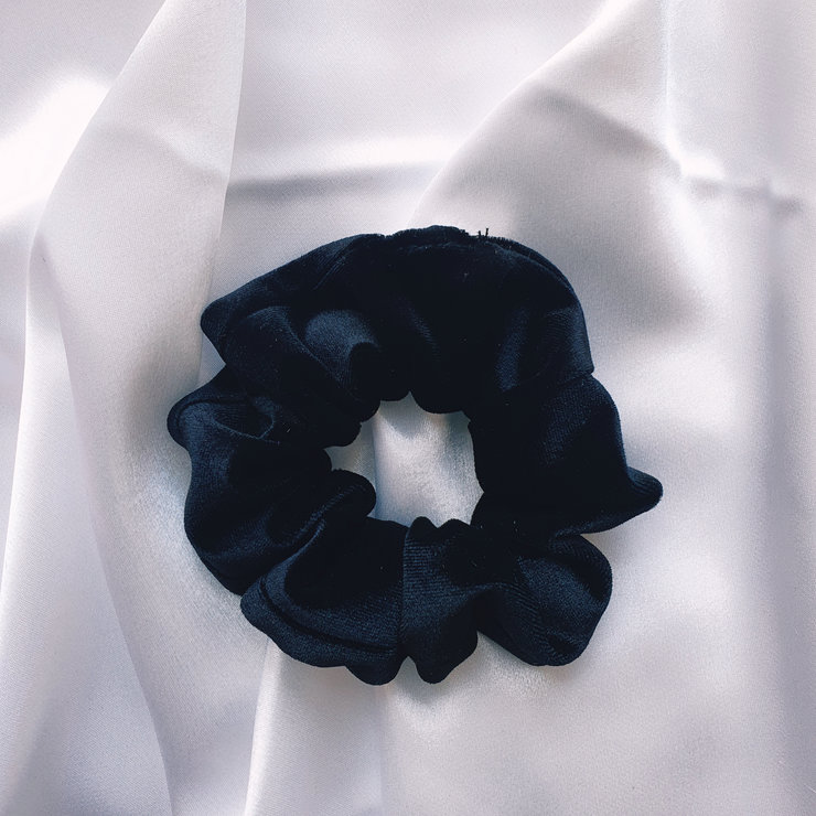 Black Velvet Scrunchie  by Rue Rose