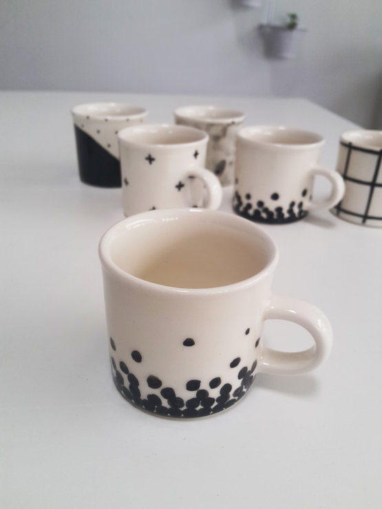 Spot speckle Espresso Cup by Potsicle Ceramics