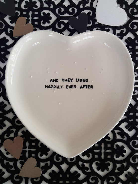 Heart Platter Happily Ever After by Potsicle Ceramics
