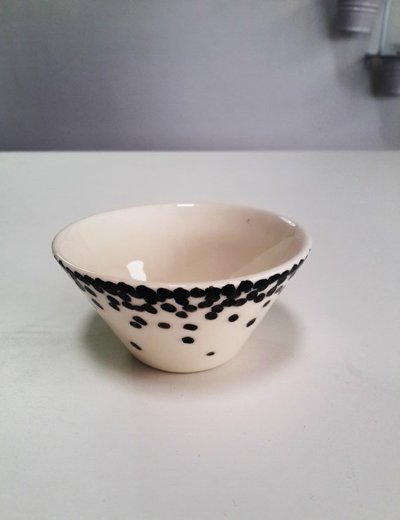 Black Spot V-Bowl by Potsicle Ceramics