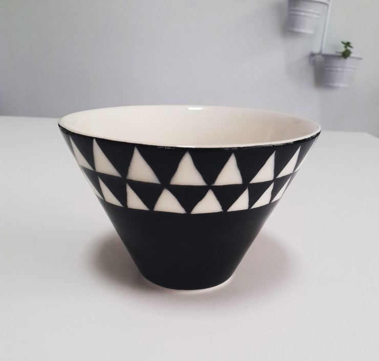 Large V Bowl with Triangle design by Love & Sparkles