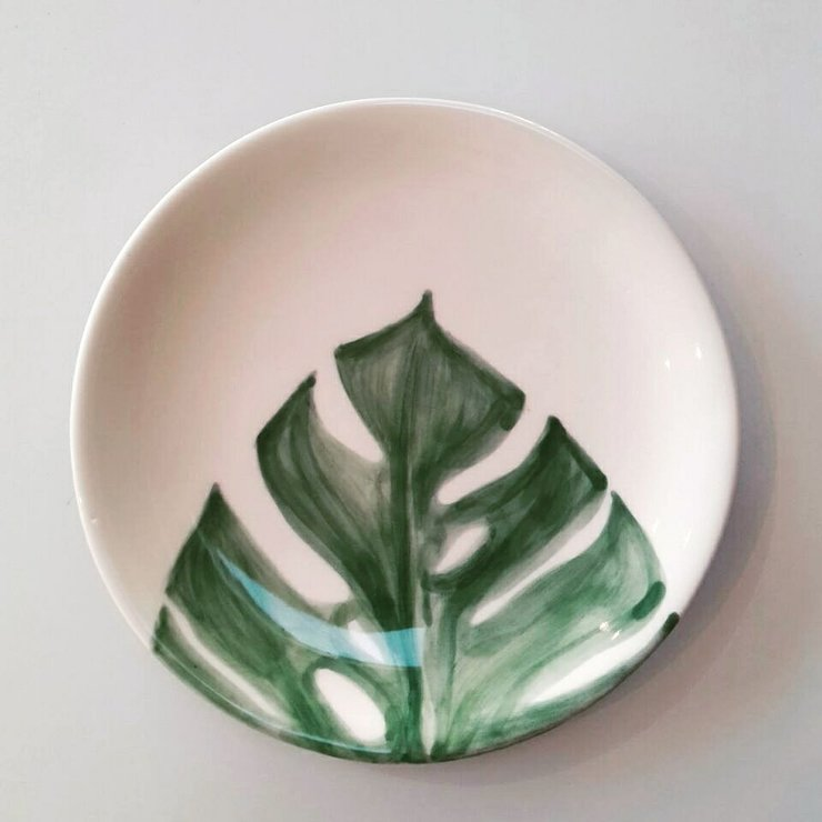 Delicious Monster Leaf Medium Plate by Potsicle Ceramics