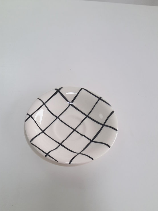Grid Saucer by Potsicle Ceramics