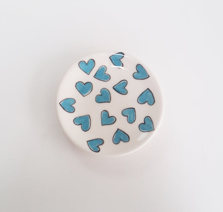 Mini Plate Hearts by Potsicle Ceramics
