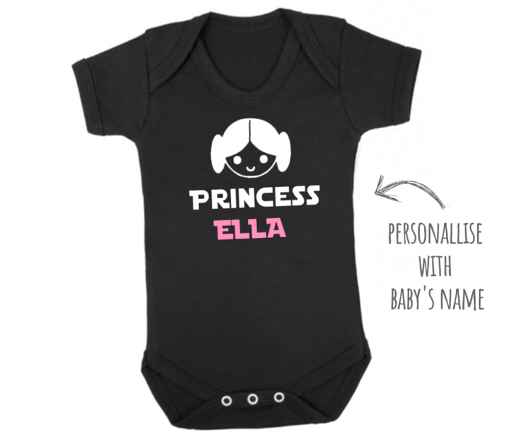 PERSONALIZED Star Wars Princess Leia inspired Onesie / Daddy's Little Princess / Baby Bodyvest / Star Wars Girl /Funny Onesie / Baby Outfit by Little Lion Cub Boutique