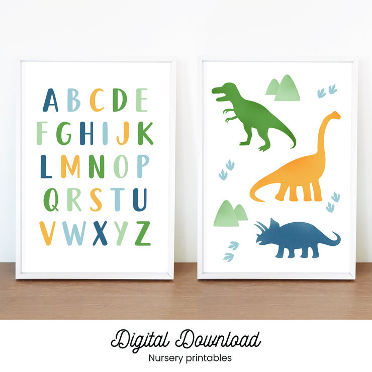 Dinosaur Alphabet Nursery Printable by Sunnyside Designs