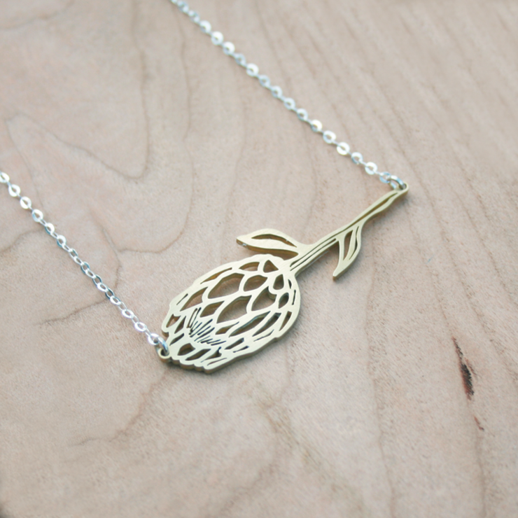 Protea Necklace by Trinket