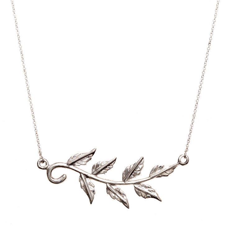 Pretty Silver Vine Necklace by Havilah Designer Jewellers