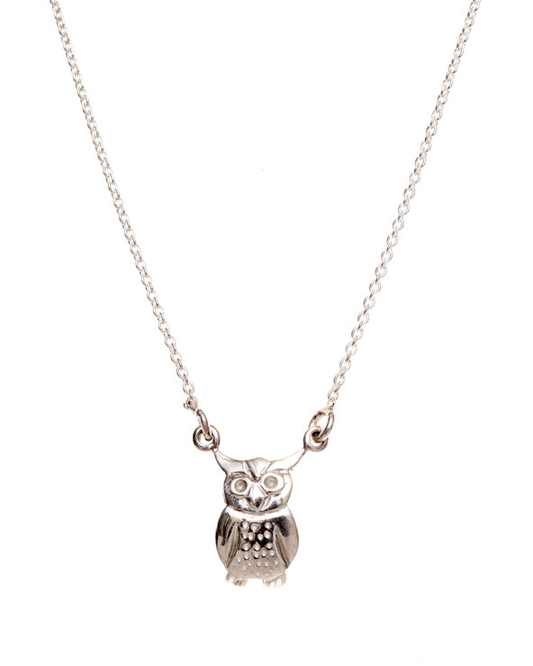 Pretty Silver Owl Necklace by Havilah Designer Jewellers