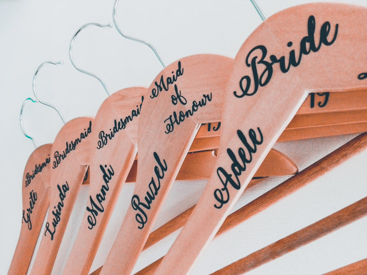 Wooden Hanger with Vinyl Wording - each by Betty Boo