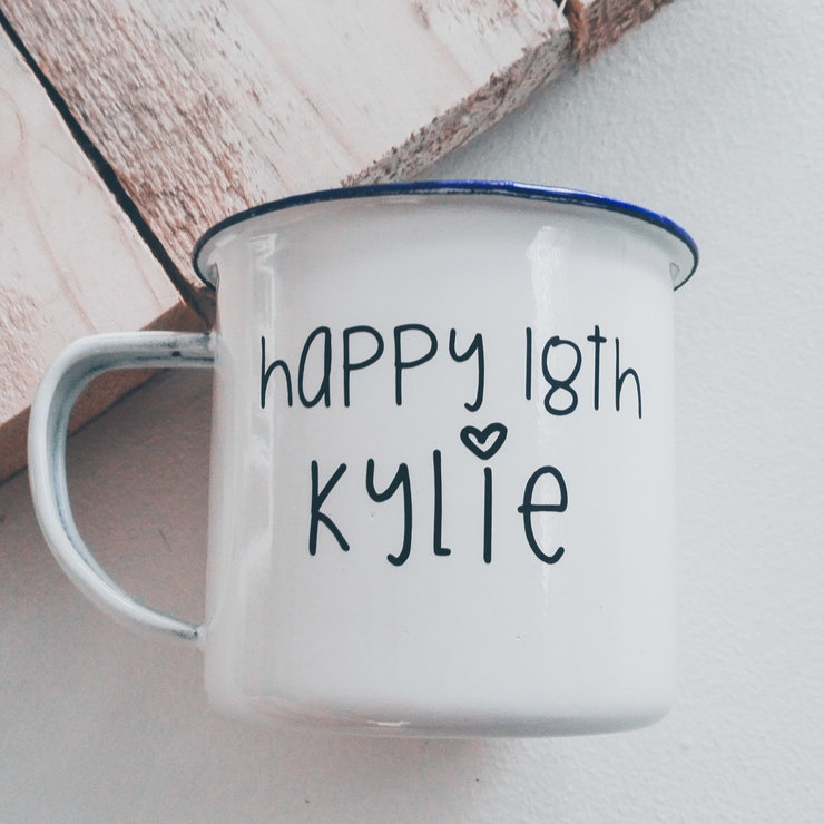 Enamel Mug - Personalised  by Betty Boo