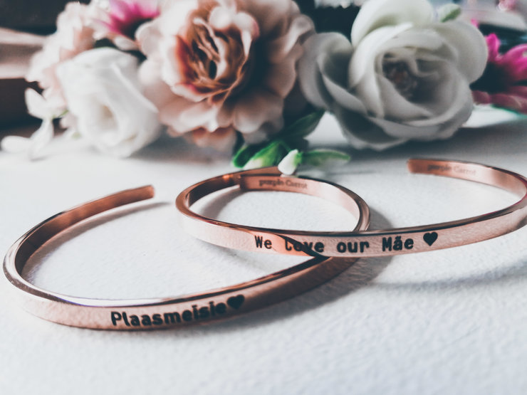 Rose Gold Inspirational Bracelets by Betty Boo