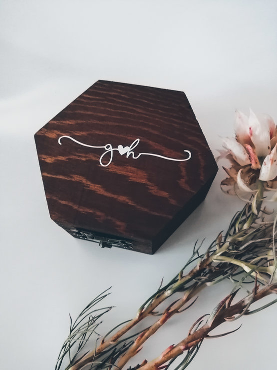 Personalised Wooden Ring/Trinket Box by Betty Boo